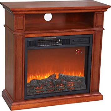 Amazon.com: 1500W Hearth Trends Small Media Infrared Fireplace ...