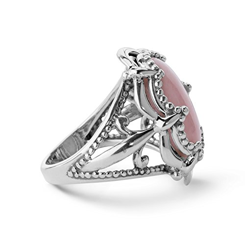 Carolyn Pollack Sterling Silver Pink Opal Bold Ring Photo #4