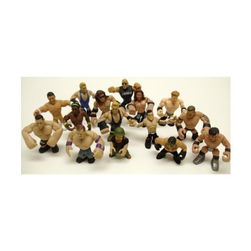 Set of 15 Officially Licensed WWE Wrestler Rumblers Wrestling Figures Featuring 15 Random Wrestler Figures with No (Wrestling Outfits Wwe)