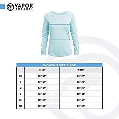 Vapor Apparel Women's UPF 50+ UV Sun Protection Outdoor Performance Long Sleeve T-Shirt at Women's Clothing store: Athletic Shirts