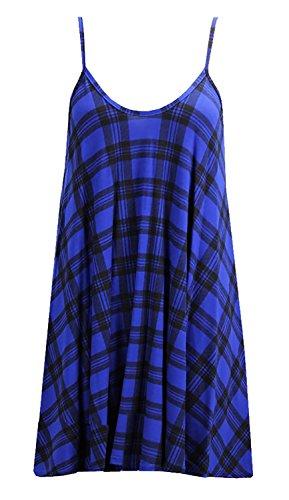 Boom Crane Femmes Dress Imprimer Rose Tartan Bang Blue Swing OgLuxe Strap Tartan xY6qFwY47
