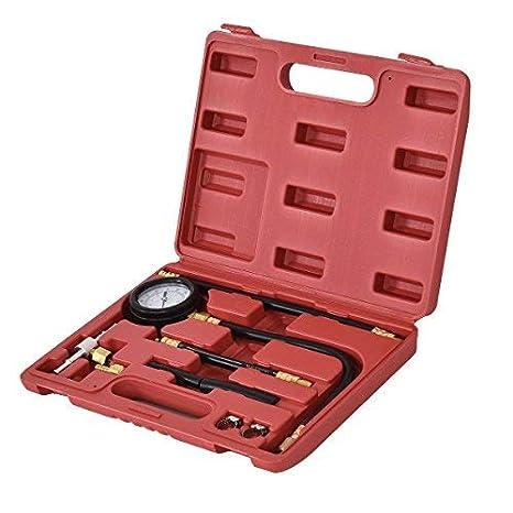 Goplus Fuel Injection Pressure Tester Pump Injector Test Kit Oil Combustion Spraying Pressure Meter Gauge Fuel-pressure Indicator Tool (0-100psi) Superbuy