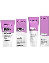 Acure Radically Rejuvenating Facial Scrub and Facial Mask Bundle, 4 oz. and 1.75 oz.