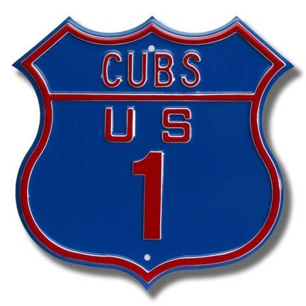 Authentic Street Signs Steel Route Sign: Cubs US 1