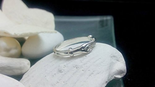 Simple silver ring,hands ring,friendship ring,best friend gift,sister ring,stack slim ring,stacking silver ring