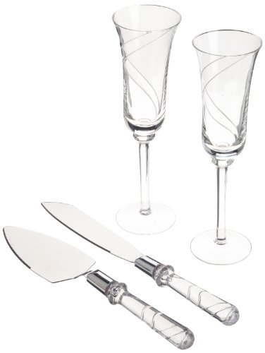 Wilton 120-445 Swirl Toasting Ensemble Wedding Collection Set