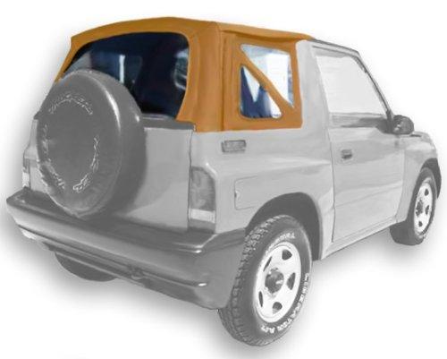 (Acme C729A/Green-SC1239 Buckskin on Grey Sailcloth Vinyl SUV Soft Top for Suzuki Sidekick / Geo Tracker)