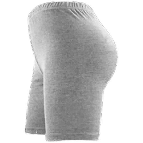 sopra cotone Elegance fin elasticizzato ginocchio donna pantaloncini in lycra al da sportivi Grey lunghi e qCpPq