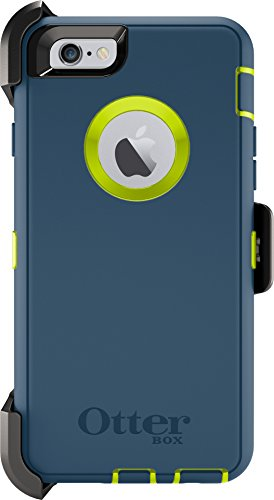 OtterBox DEFENDER iPhone 6/6s Case - Retail Packaging - (CITRON GREEN/DEEP WATER BLUE)
