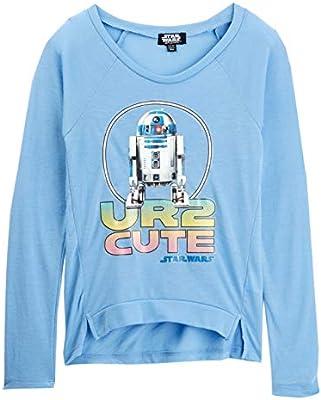 Carolina Blue Star Wars R2-D2 UR2 Cute Girl/'s Pullover Long-Sleeve Tee