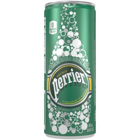 Perrier Sparkling Natural Mineral Water, 8.4 Fl Oz, 30 Count(Pack of 6) by Perrier