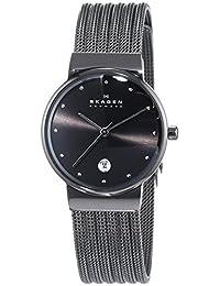 Skagen Women's 355SMM1 White Label Analog Display Analog Quartz Black Watch