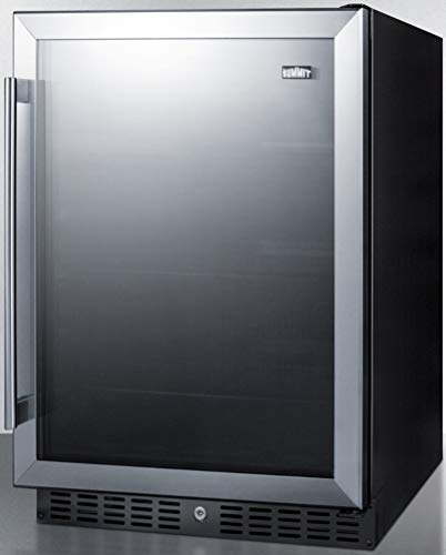 Summit AL57G Built-in Undercounter ADA Compliant All-Refrigerator with Glass Door