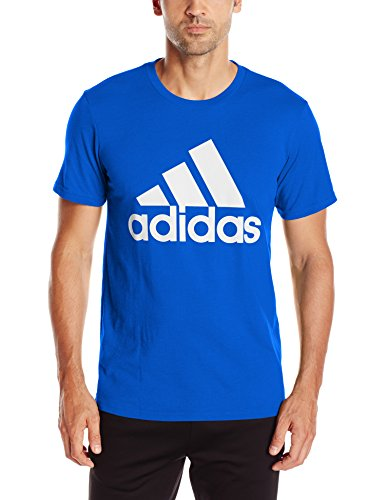 Blue Graphic Tee (adidas Men's Badge of Sport Graphic Tee, Collegiate Royal/White, Medium)
