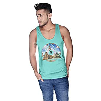Creo London Telephone Tank Top For Men - M, Green