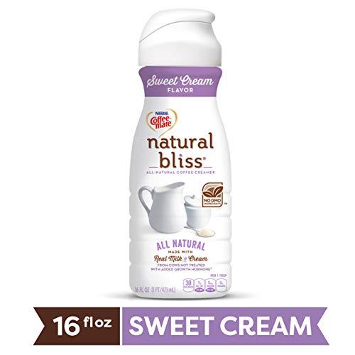 COFFEE MATE NATURAL BLISS Sweet Cream All-Natural Liquid Coffee Creamer, 16 Fl. Oz. Bottle   Dairy Creamer