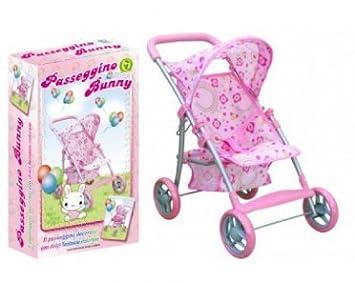 Passeggino giocattolo per bambole 981012 porta enfant con parasole cappottina