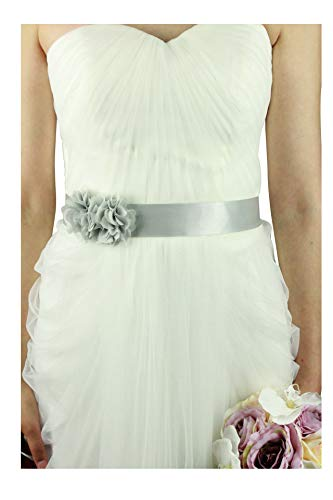 Simple Flowers Belts/sashes for Wedding/party/bridal Dress (silver)