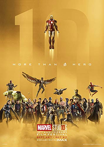 91.5 x 60 cm Tainsi More Than Heros Poster 10th Anniversary Film Festival Poster Super Hero Poster