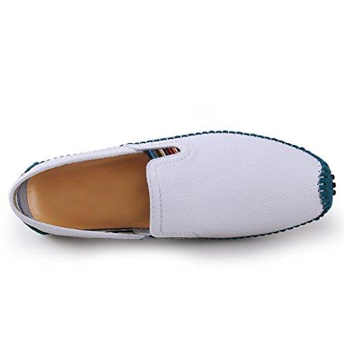 de Los Marea Zapatos Trabajo Zapatos Conducción Zapatos Cuero de Zapatos Casuales de Zapatos Hombre White O8Y0ZXnxn