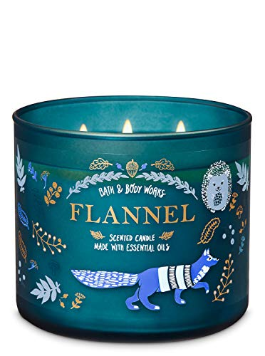 Bath & Body Works FLANNEL 3-Wick Candle 2019 Edition 14.5 oz / 411 g