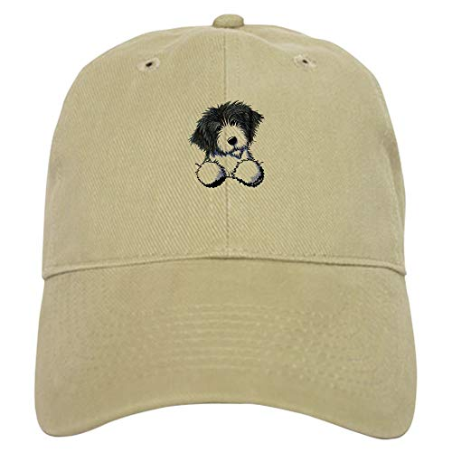 CafePress Pocket Bearded Collie Baseball Cap with Adjustable Closure, Unique Printed Baseball Hat Khaki ()