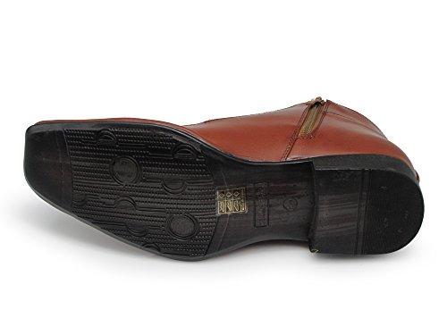 Enzo Romeo Praga01 Abito Da Uomo Stivali Alligatore Stampa Coccodrillo Chelsea Chukka Stivaletti Stringati Alla Caviglia Marrone