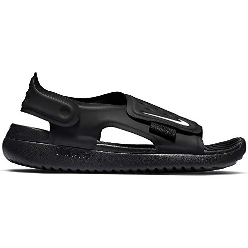 Nike Little/Big Kids' Sunray Adjust 5 Sandal Black/White, Size 11 M US Little Kid by Nike (Image #1)