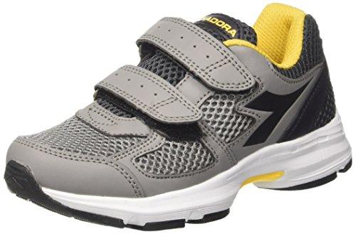 Diadora Shape 8 Jr V, Zapatillas de Running Para Niños Gris (Grigio Ghiaccio/nero Fumo)