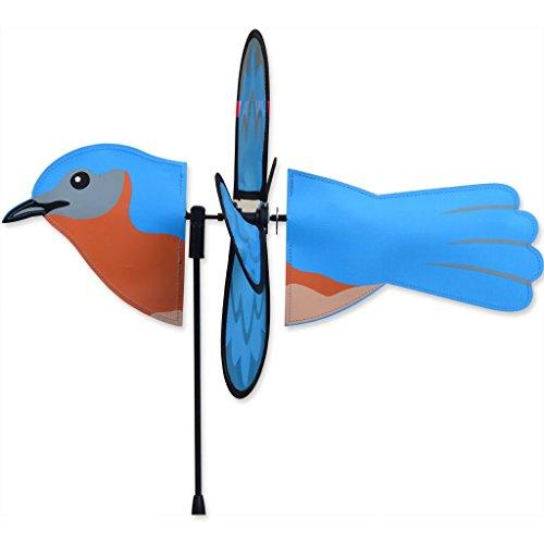 BLUEBIRD Petite Garden Stake Wind Spinner by Premier Kites & (Bluebird Stake)