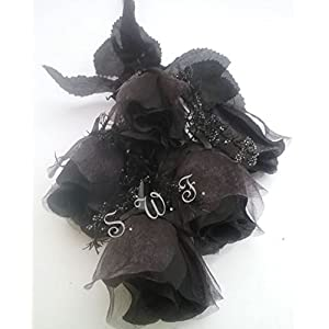"Wedding Flowers 15"" Sheer Rose Bud Bush Artificial Silk Bridal Bouquets Home Party 5 Rose Buds 3"