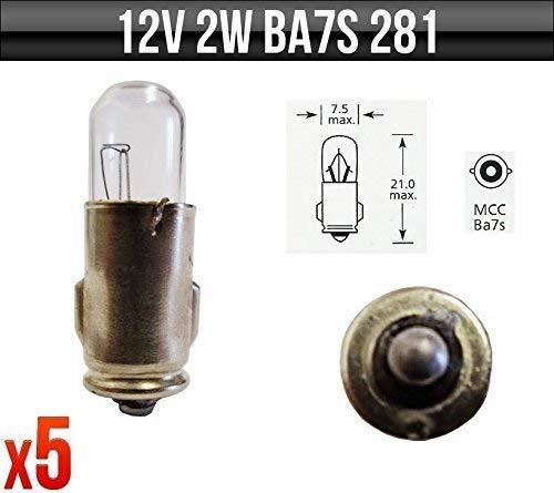 Smiths Anzeige /& Bedienfeld Leuchtmittel 281 X 5 Tacho 12v 2w Ba7s Instrument Armaturenbrett