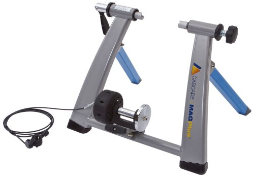 Cascade Health & Fitness Magplus Bike Trainer, Light Blue/Silver