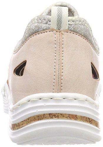 Rose Damen Rieker L2571 Nude Silverflower Sneaker Pink qBBIdrw