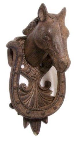horse cast iron doorknocker - 1