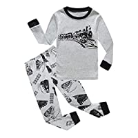 Family Feeling Train Little Boys Long Sleeve Pajama Sets for Child 100% Cotton Sleepwears Toddler Kids Pajamas Boys Size 2