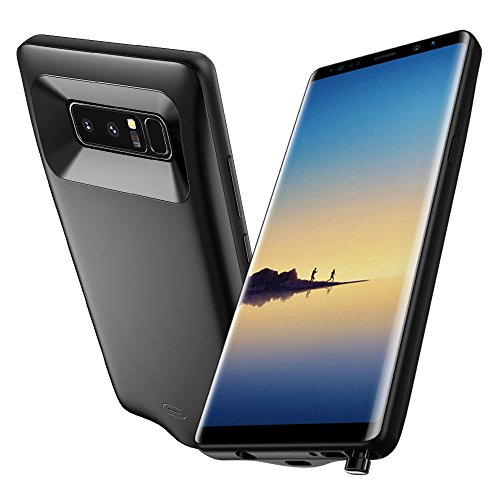 Galaxy Note 8 Battery Case, JSAUX Rechargeable 5500mAh Portable Charging Case Wireless Type C Extended Full Edge Protective Slim Battery Juice Pack Fast Charger for Samsung Galaxy Note 8 (6.3″)(2017)