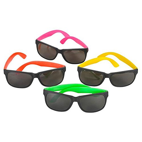Bottles N Bags 48 Pairs of 80s Style Neon Party Toy Sunglasses in Cool Colors - Great for Birthday Parties, Graduation, 4th of July and Summer Vacation by Bottles N Bags (Image #4)