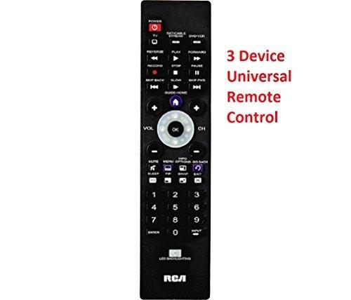 RCA Universal Remote Control 3 Device TV Roku DVR Receiver
