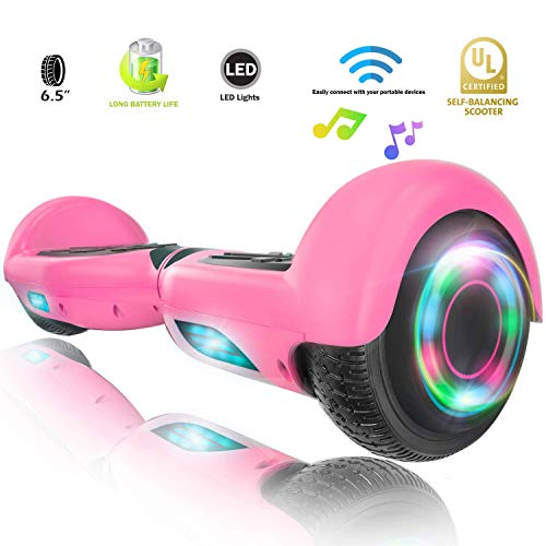 XPRIT Easter Sale Hoverboard w/Bluetooth Speaker (Pink) -