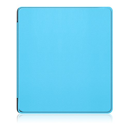 LDFAS Leather Cover for All-New Kindle Oasis E-reader (9th generation, 2017 release) - Full Cover Protector Case with Auto Wake / Sleep for Amazon Kindle Oasis 7 inch, Blue