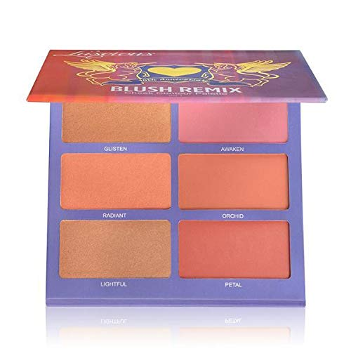 Blush Remix Cheek Contour Palette by Luscious Cosmetics. Vegan and Cruelty Free. Net Wt. 6 x 0.18oz
