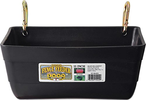 - Little Giant Fence Feeder with Clips, 11-Inch, Black
