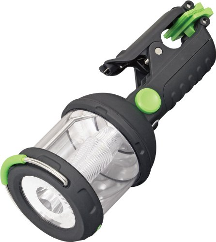 Blackfire BBM910 Clamp Light 230-Lumen 3AA LED 4-mode Dual Flashlight / Lantern, (Black Dual Flashlight)