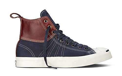 Converse Herren Man Sneaker Gr. 43 (US9.5) Leder Leather blau braun High *** Jack Purcell Edition Duck Boot *** 139771C Leather