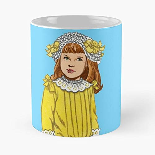 (Little Girl Golden Rod - 11 Oz Coffee Mugs Unique Ceramic Novelty Cup, The Best Gift For Holidays. )