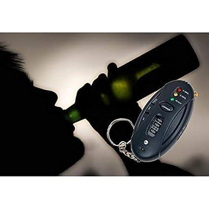 Prueba de alcohol llavero alcoholímetro digital NEGRO ...