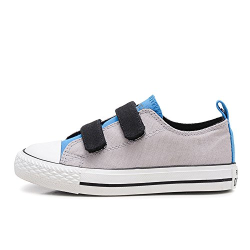 MK MATT KEELY Kids Canvas Shoes Gray Sneakers for Toddler Boys Shoes Children Hook Loop Loafers School Board Shoes Blue(Toddler/Little Kid)