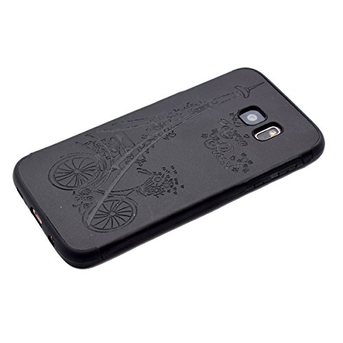 inShang Funda para Samsung Galaxy S7 Edge suave TPU Carcasa Cajas Soporte Skin case cover Para Galaxy S7 Edge Black tower