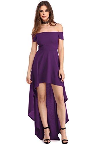 New Purple Low Hohe Off Schulter Party Kleid Abend besondere Anlässe ...